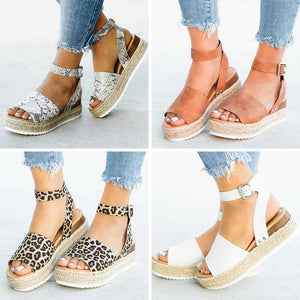 Open Toe Platform Wedge Sandals