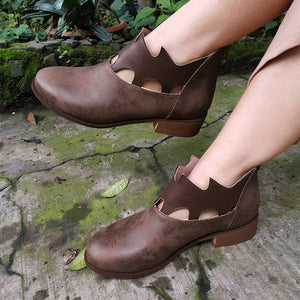 Crown Hollow Out Retro Breathable Fashion Boots