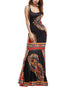 Bohemia Elegant U Neck Sleeveless Vintage Print Casual Maxi Dress