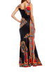 Bohemia Elegant U Neck Sleeveless Vintage Print Casual Maxi Dress - Hellosasa