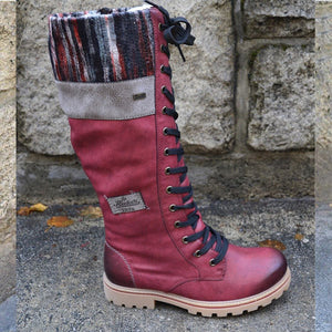 Round Head Casual Leather Side Zipper Martin Boots