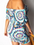One Shoulder Collar Printing Leisure Vacation Dress