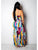 Bohemia Spaghetti Straps Backless High Split Tie Dye Print Belt Casual Maxi Dress - Hellosasa