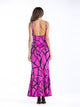 Solid Color Spaghetti Straps Sleeveless Backless Color Block Casual Maxi Dress