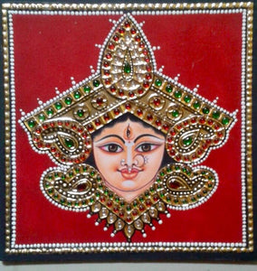 LADY - TANJORE PAINTING