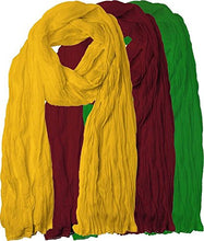 Load image into Gallery viewer, Plain Cotton for Women's Combo (Pack-3)  Scarfs and Shawls