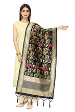 Load image into Gallery viewer, Women'S Hand Woven Work Indian Ethnic Banarasi Silk Scarf and Shawls