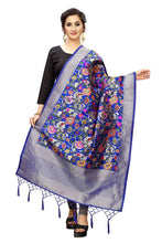 Load image into Gallery viewer, DESIGNER WOMEN'S BANARASI SILK WOVEN SCARFS and SHAWLS