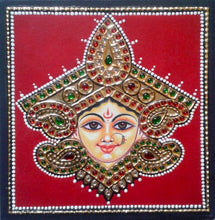 Load image into Gallery viewer, LADY - TANJORE PAINTING