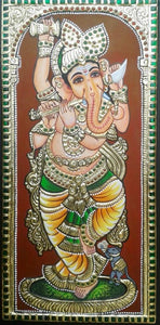 GANESHA TANJORE PAINTING- Another Shade (5)