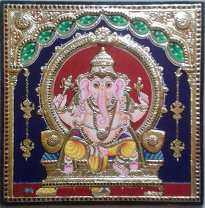 GANESHA TANJORE PAINTING- Another Shade (3)