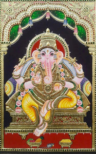 GANESHA TANJORE PAINTING- Another Shade (4)