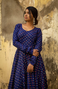 Dreamy Bandhini Blue