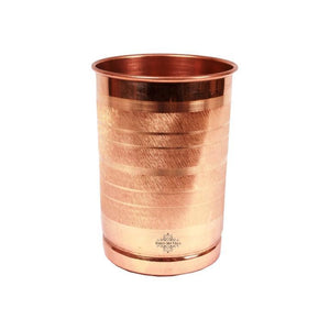 Copper Water Pot with 6 Tumblers