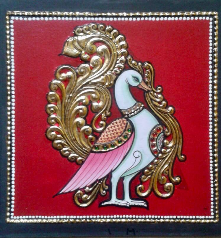 Swan- TANJORE PAINTING
