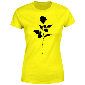 T-Shirt Donna black rose
