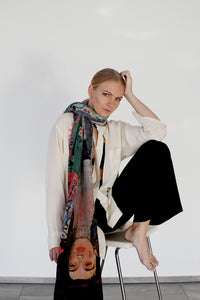 Annabelle - AN02 Effortlessly beautiful to wear knotted as a neck scarf or shoulder wrap
