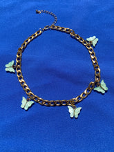 Load image into Gallery viewer, Mint Butterfly Chain Necklace