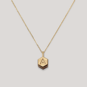 Letter Hex – Yellow Gold