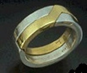 Extra Wide Gimmel Ring sizes 4 to 7 1/2