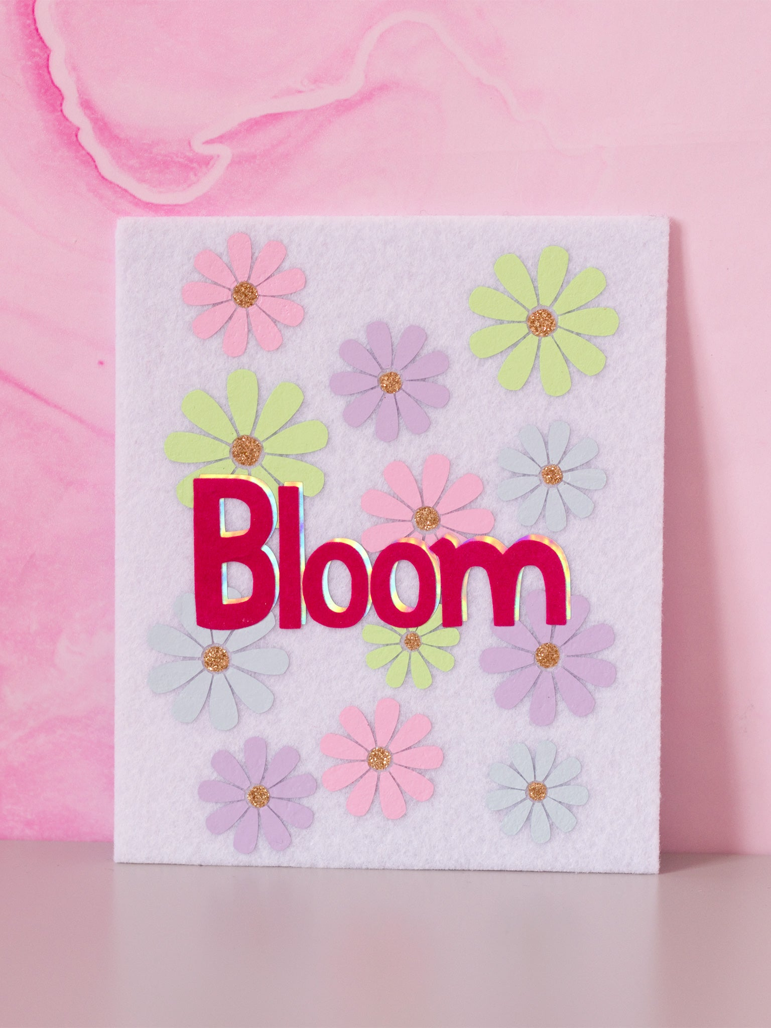 bloom felt wall art