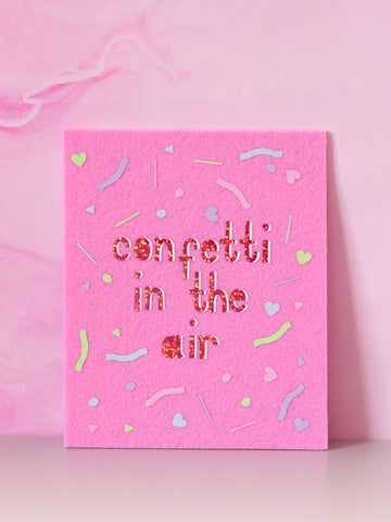 confetti in the air felt wall art