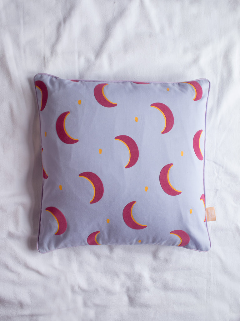 crescent moon cushion cover