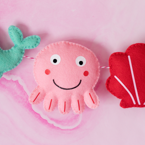 sea creatures felt garland