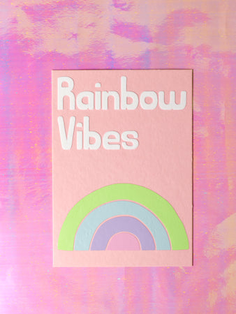 Rainbow Vibes Flock Wall Art - Seconds Sale