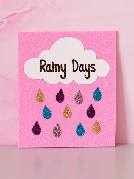 rainy days felt wall art