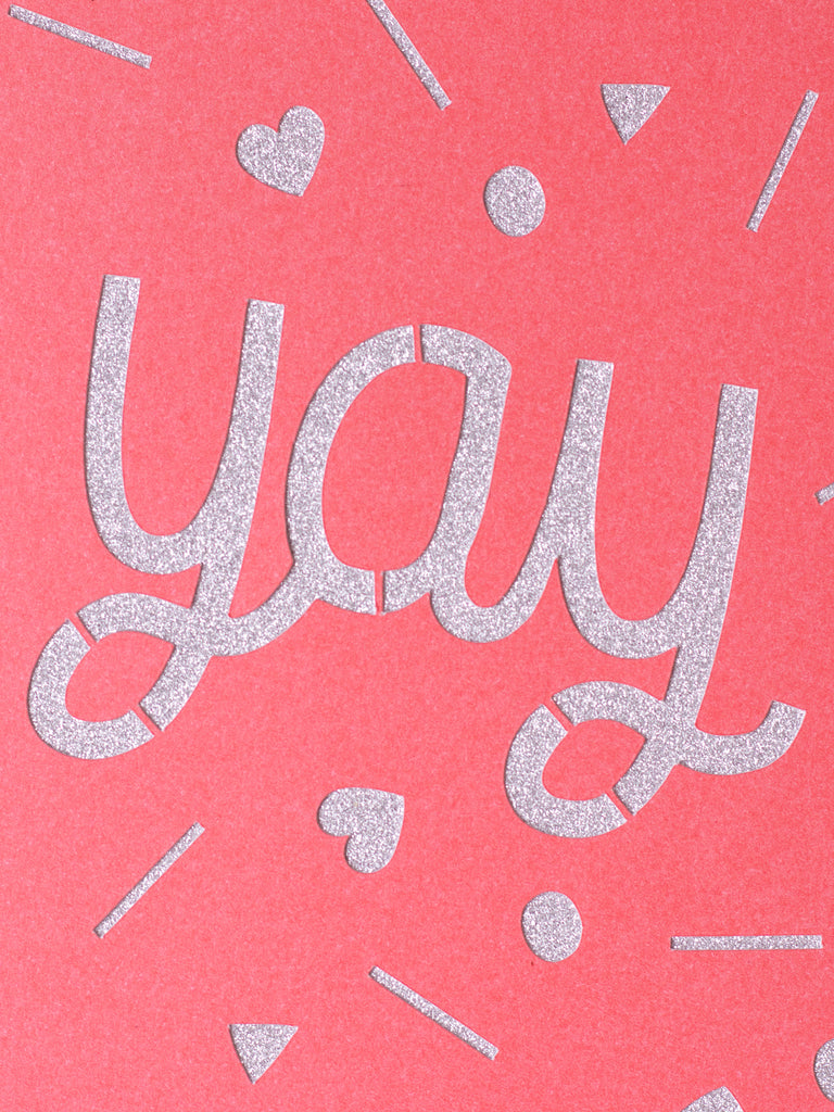 yay papercut greeting card