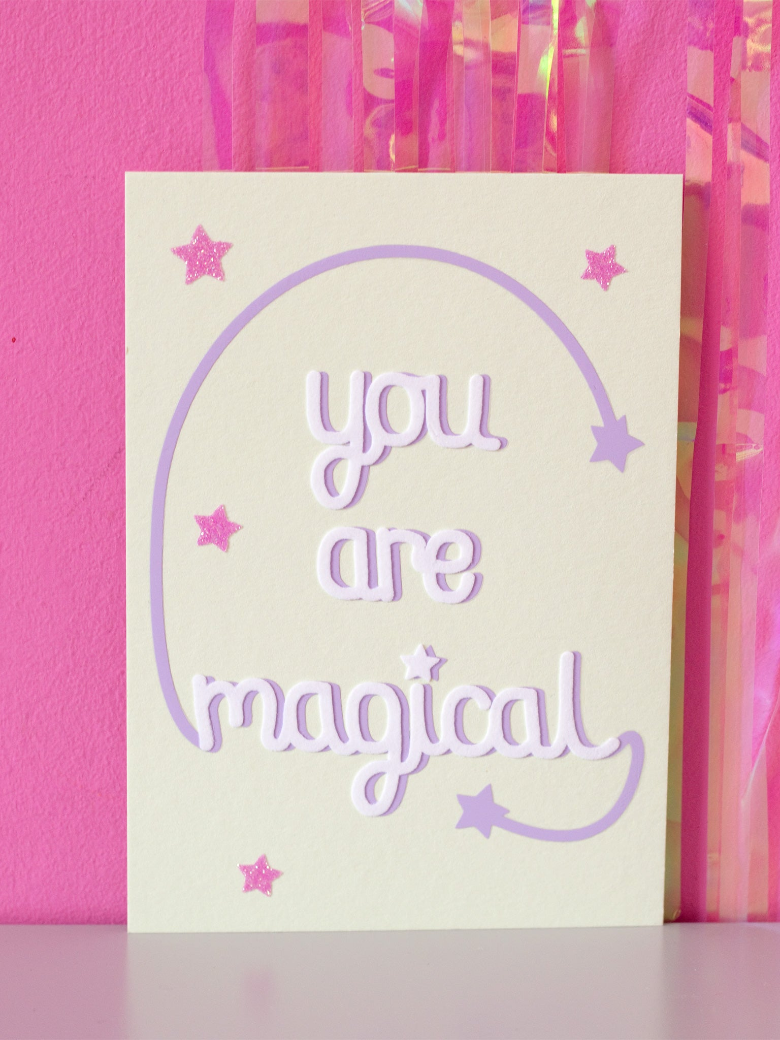 you are magical flock wall art