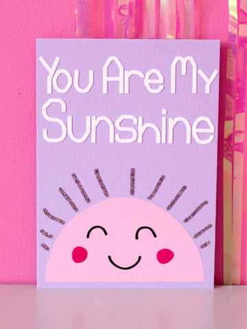 you are my sunshine flock wall art