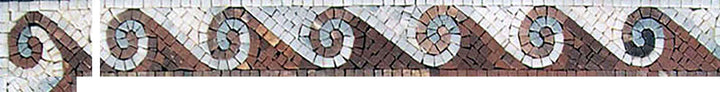 Waves Corner Mosaic