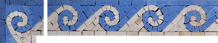 Blue Waves Mosaic Corner