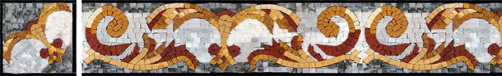 Colorful Marble Mosaic Corner