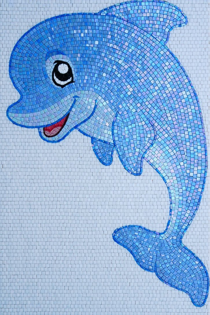 Flow the Dolphin - Comic Mosaic