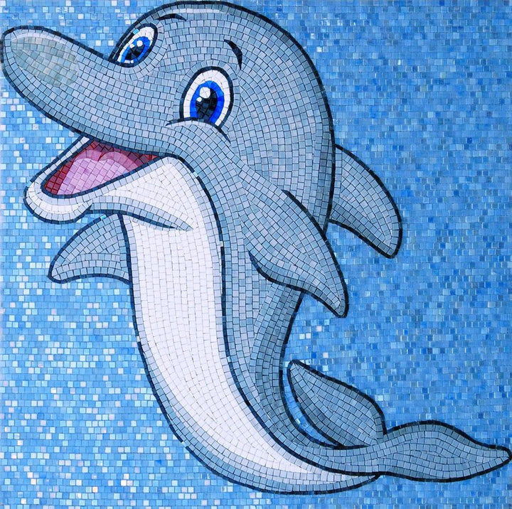 Flipper the Dolphin - Comic Mosaic