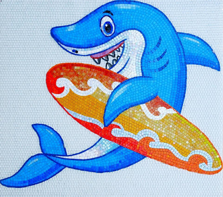 Aussie the Surfer Shark - Comic Mosaic