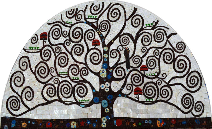 Mosaic Art -Tree Of Life Spirals