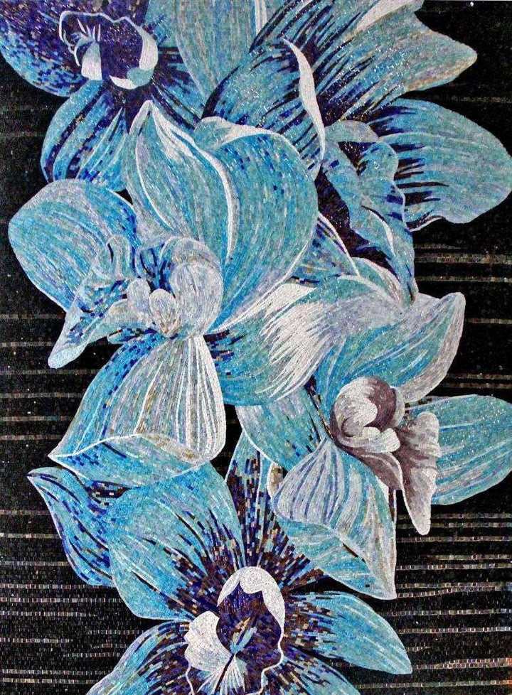 Flower Mosaic Art - Blue Magnolia