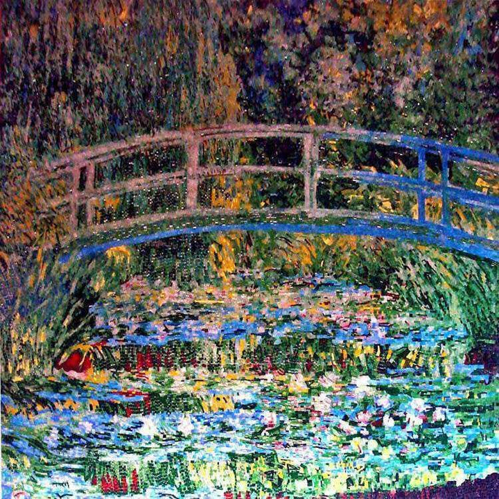 "Mosaic Art - Water Lily Pond"" Monet"""