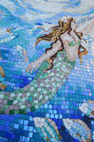 Mermaid Reaching for the Star - Glass Mosaic