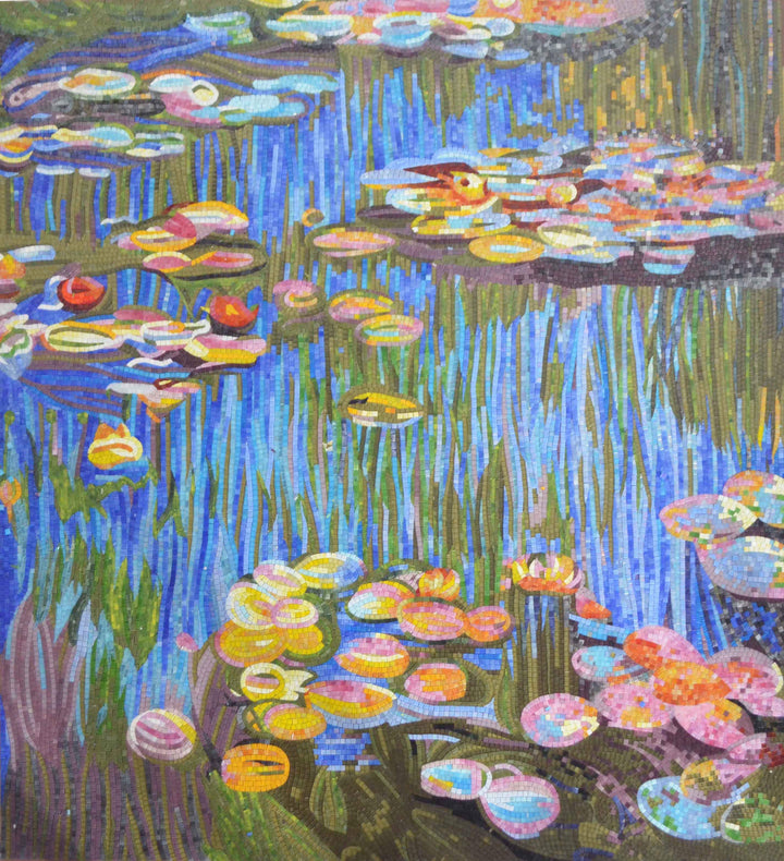 Water Lilies (Nympheas) - Mosaic Reproduction