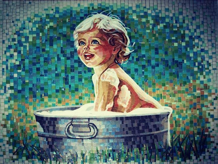 Mosaic Happy Baby Glass Mosaic