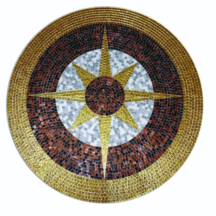 Geometric Glass Star - Mosaic Art