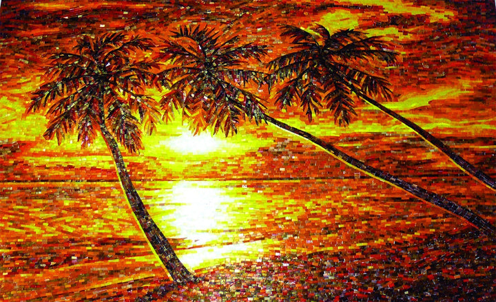 Mosaic Design - Palms at Sunset