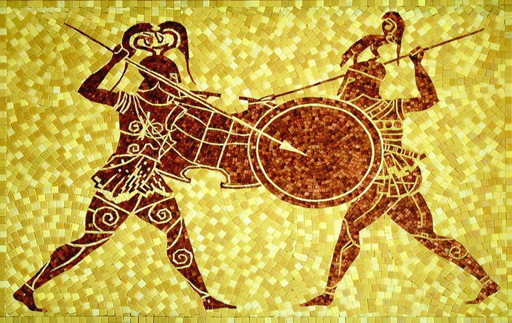 Soldiers Fighting Mosaic