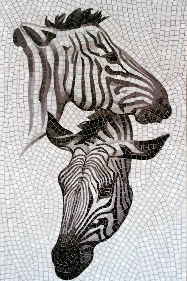 Zebra Glass Mosaic