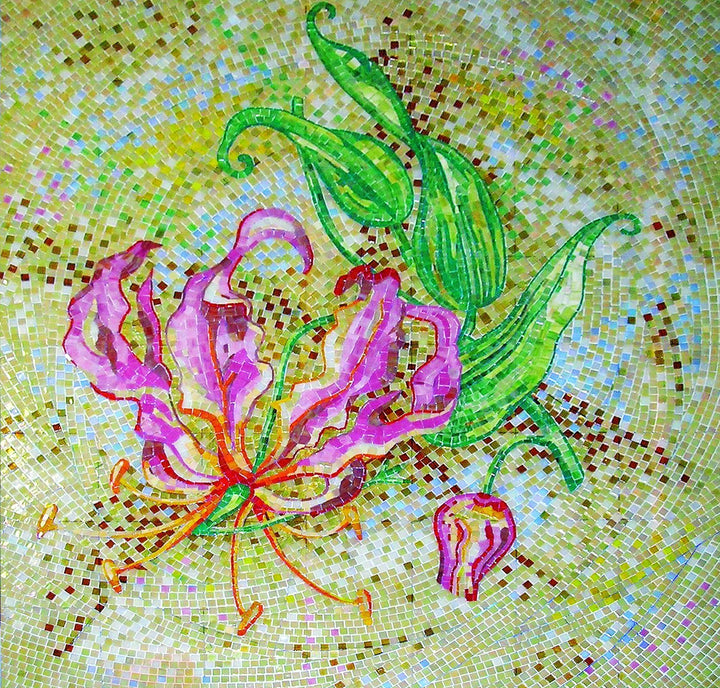 Natural Flower Scene Mosaic